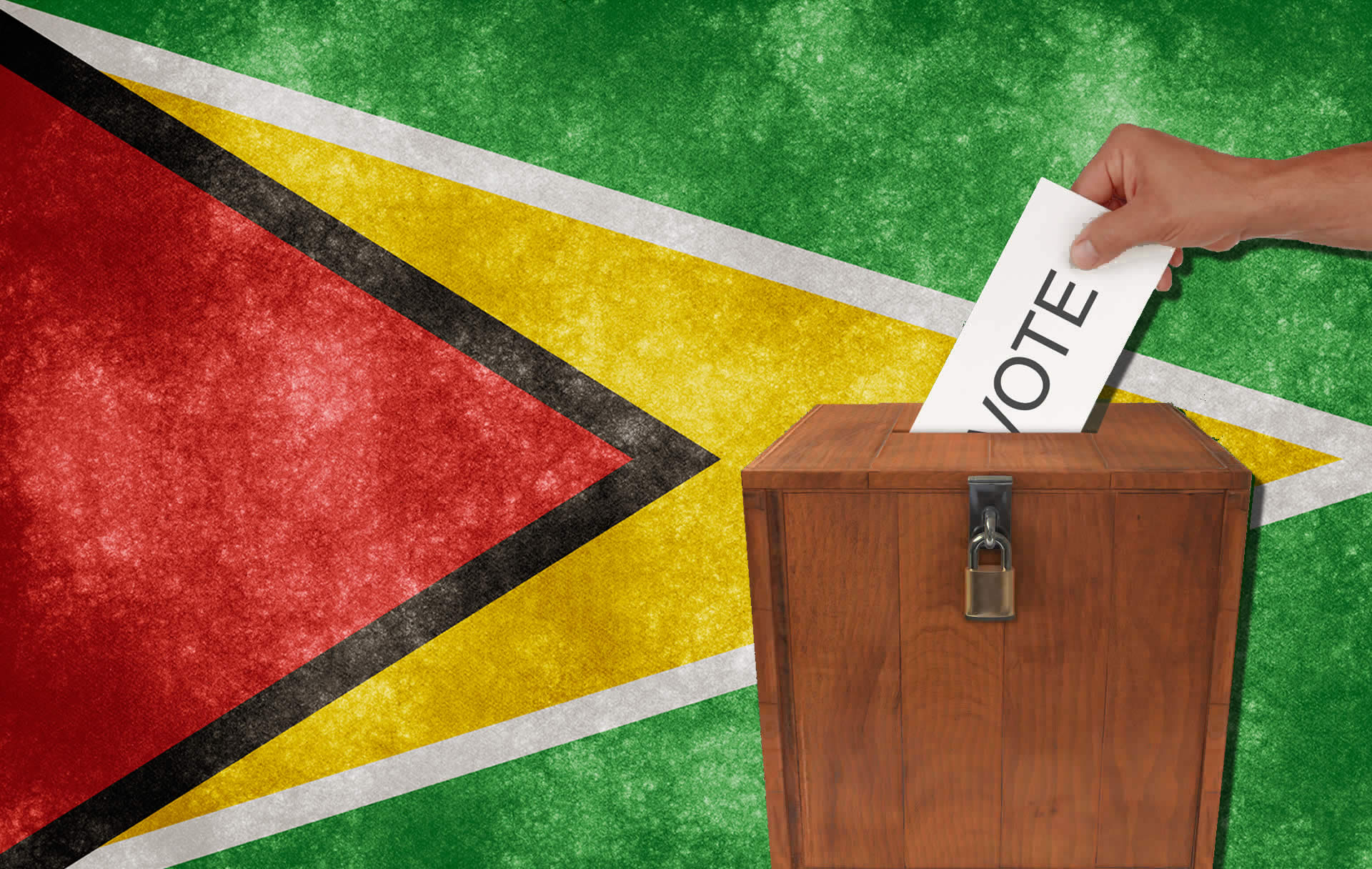 Voting in Guyana