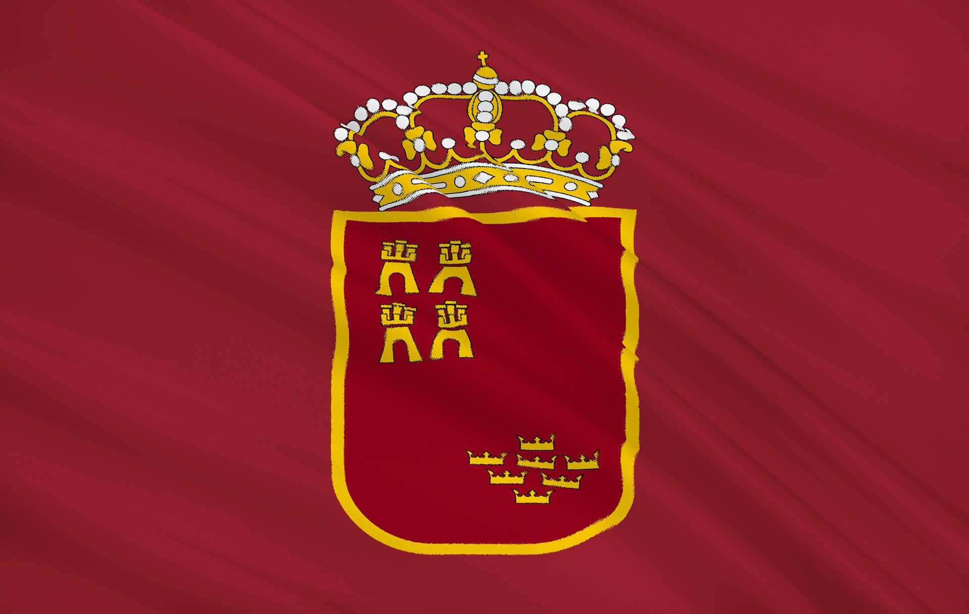 Flag of Murcia, Spain.